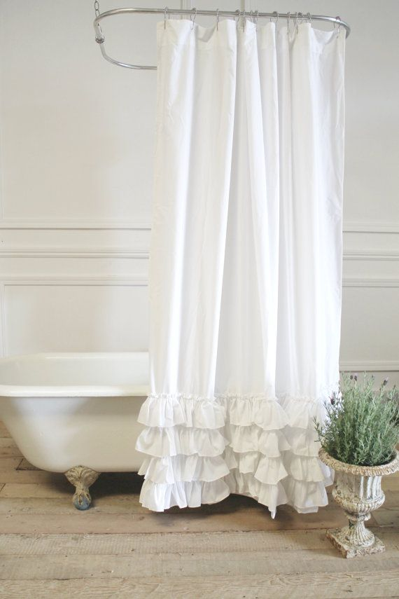 Sofia Shower Curtain In Linen Or Cotton By Fullbloomcottage
