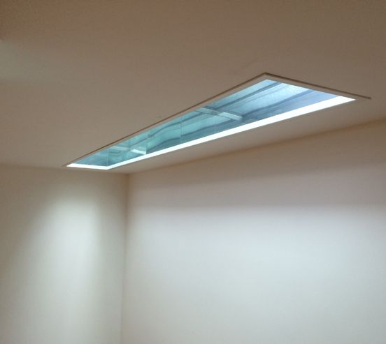 Basement Stair Ceiling Lighting: A Basement Light Shaft Making All The Difference In A Room