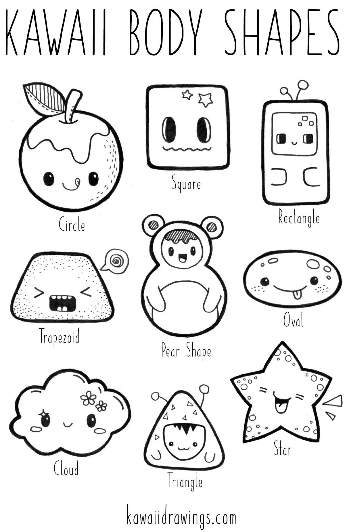 Kawaii body shapes, how to turn basic shapes into kawaii
