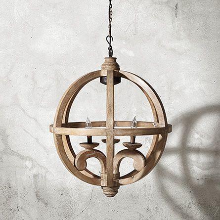 Vanves 24 wood chandelier in natural am pinterest for Natural wood chandelier
