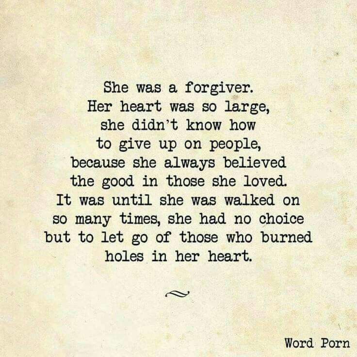 In my adult life, my heart has learned this lesson through ups and downs! I  am stronger because of it and am thankful for the giving heart God gave me