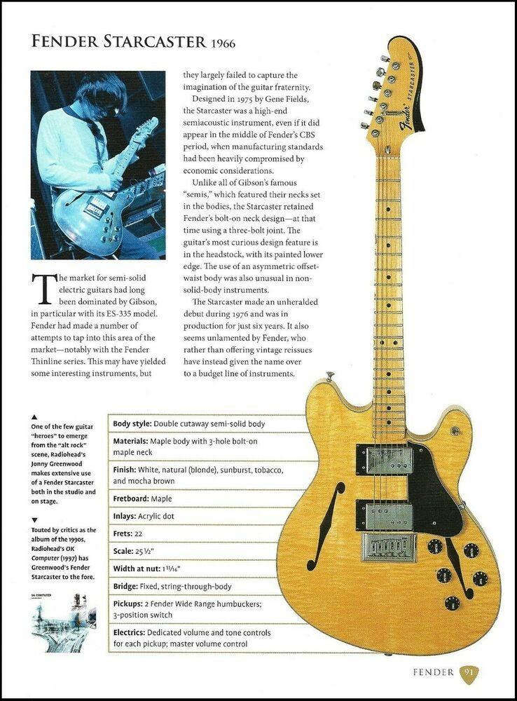Radiohead Jonny Greenwood Fender Starcaster Katana Guitar History Article Fender Fender Starcaster Guitar Jonny Greenwood