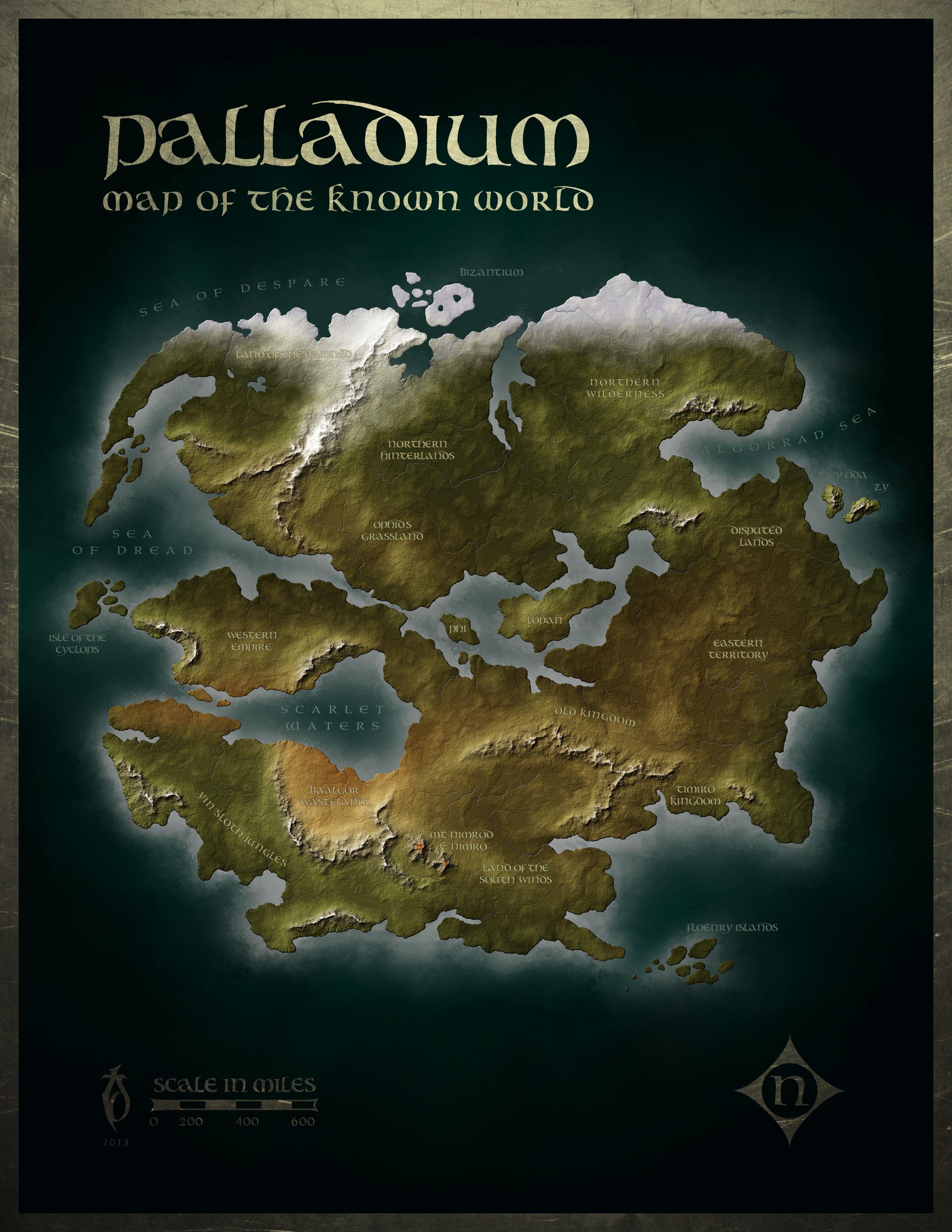 Palladium by arsheesh   Cartography.   Pinterest   Fantasy map
