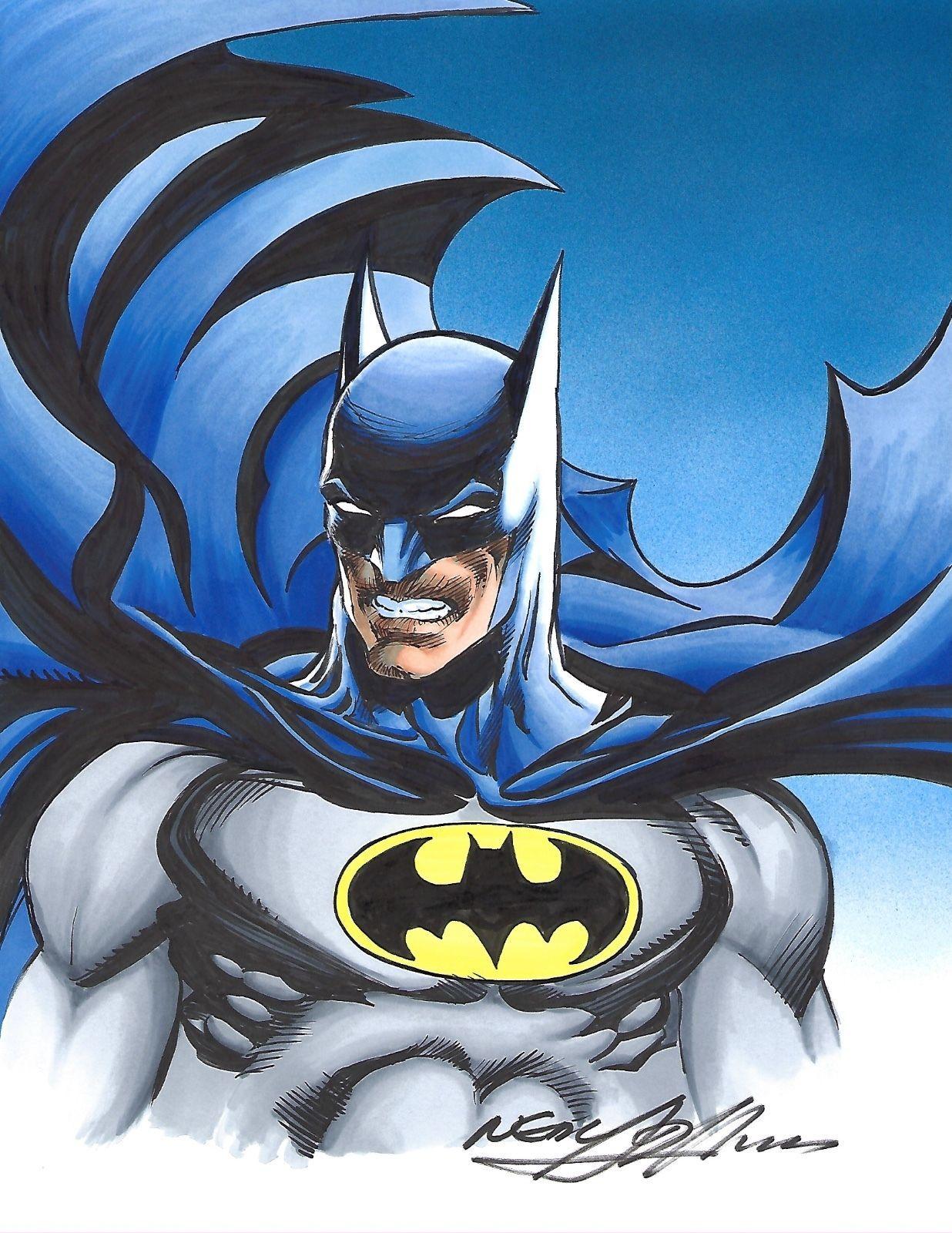 - BATMAN COLOR DRAWING -2015 - NEAL ADAMS - W.B. Batman Art