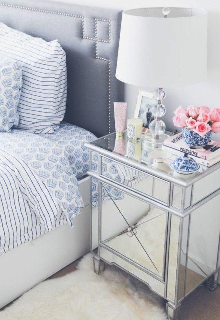 schlafzimmer dekorieren deko schlafzimmer weisse lampe rosen - teppich im schlafzimmer