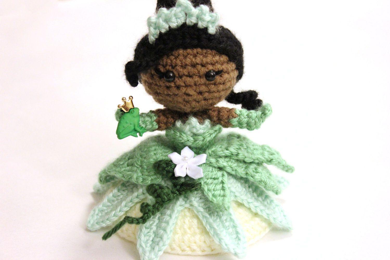 Free Amigurumi Disney Patterns : Pattern tiana princess & the frog princess crochet doll amigurumi