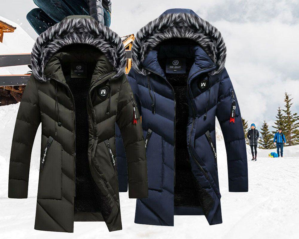 Winter Parka Men Solid Jacket Thick Warm Coat Long Hooded Jacket Fur Collar Coat Ebay Long Hooded Jacket Nice Mens Coats Fur Collar Coat [ 800 x 1000 Pixel ]