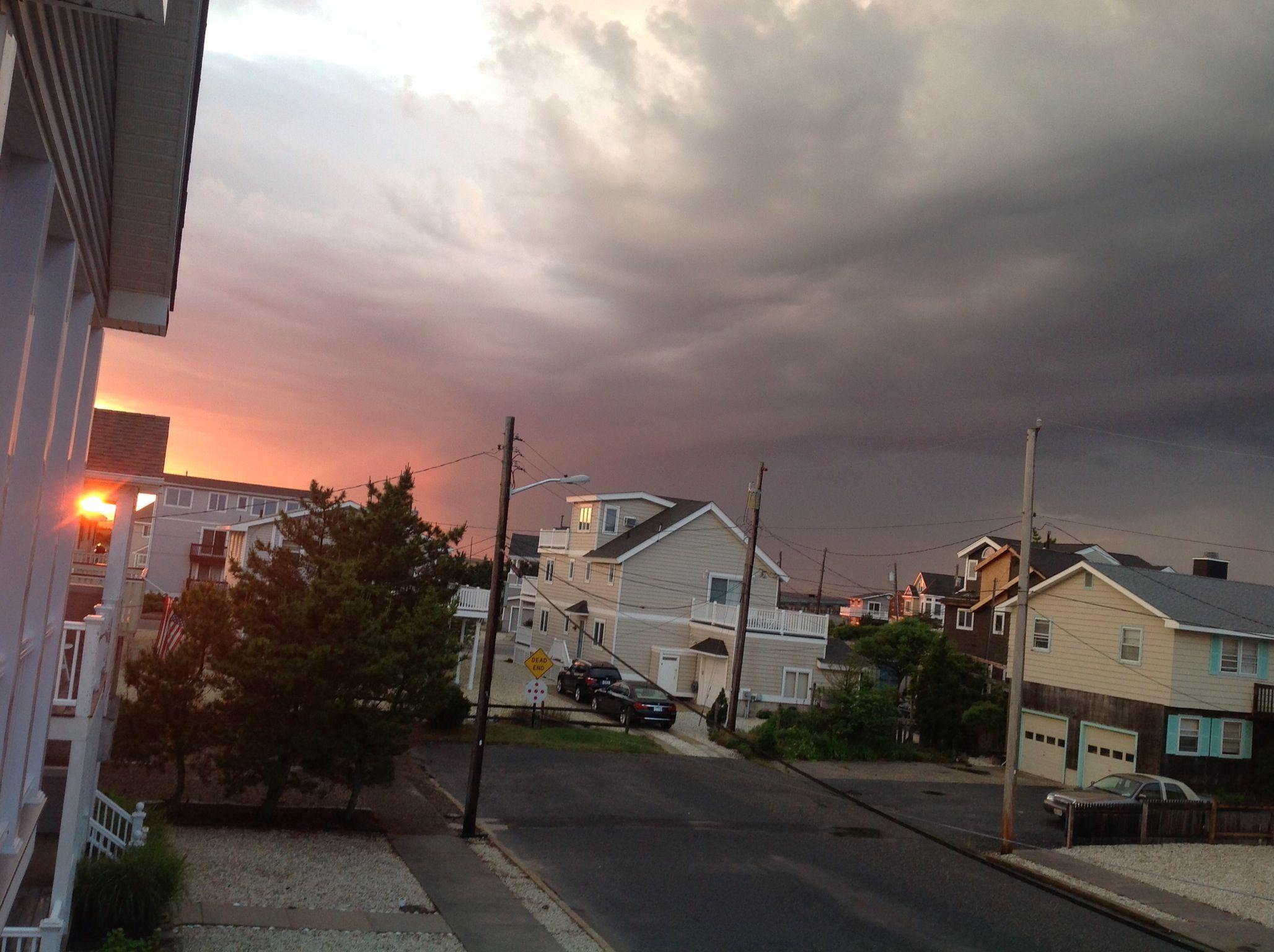 A storm...a sunset...