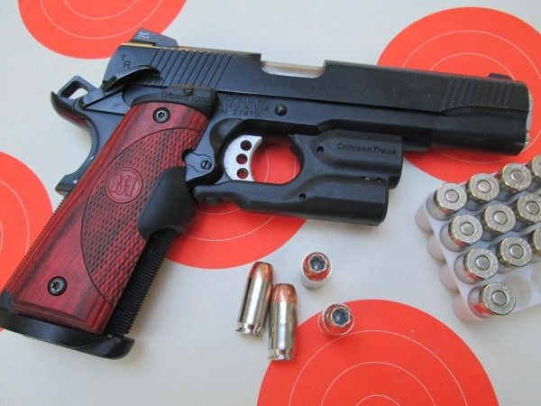 This Springfield Armory 1911 TRP has Crimson Trace Lasergrips and a