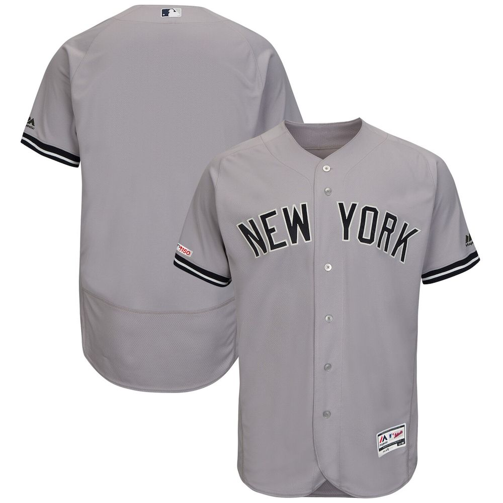 Men S Majestic Gray New York Yankees Road Flex Base Authentic Collection Team Jersey Size 56 Grey In 2020 New York Yankees New York Yankees Game Go To New York