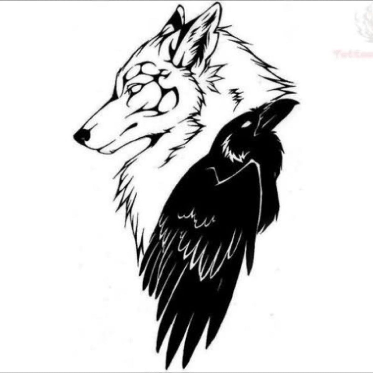 Wolf And Raven Tattoo Design Raven Tattoo Pagan Tattoo Crow Tattoo Design