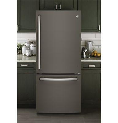 Slate Gray Gloss Magnetic Refrigerator Skin Cover Panel Fridge Fronts Bottom Freezer Refrigerator Slate Refrigerator Bottom Freezer