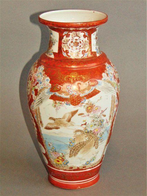 Good Signed Japanese Kutani Vase Oriental Porcelain Pinterest