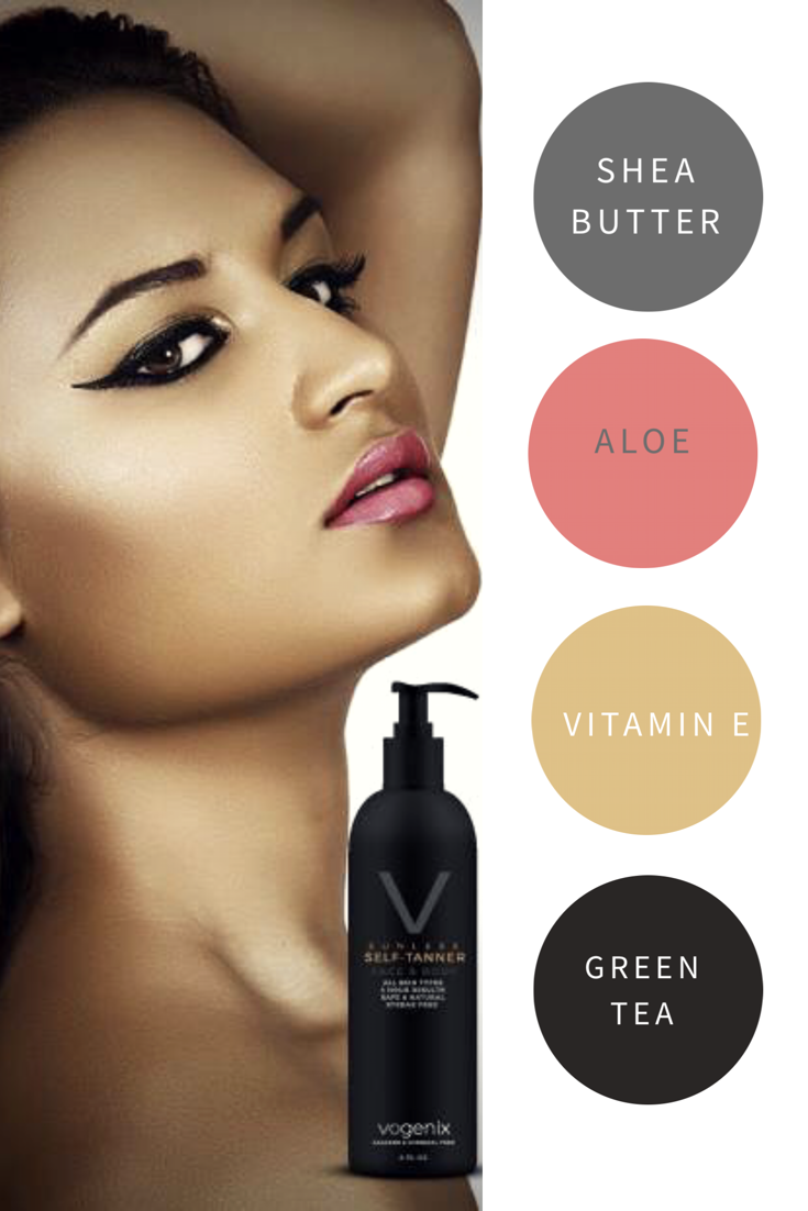 Vogenix Sunless Tanner natural and quality ingredients