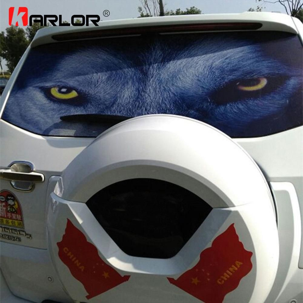 127cmx70cm car 3d horror monsters back rear windshield decal stickers vinyl film car rear window glass pvc stickers automobiles