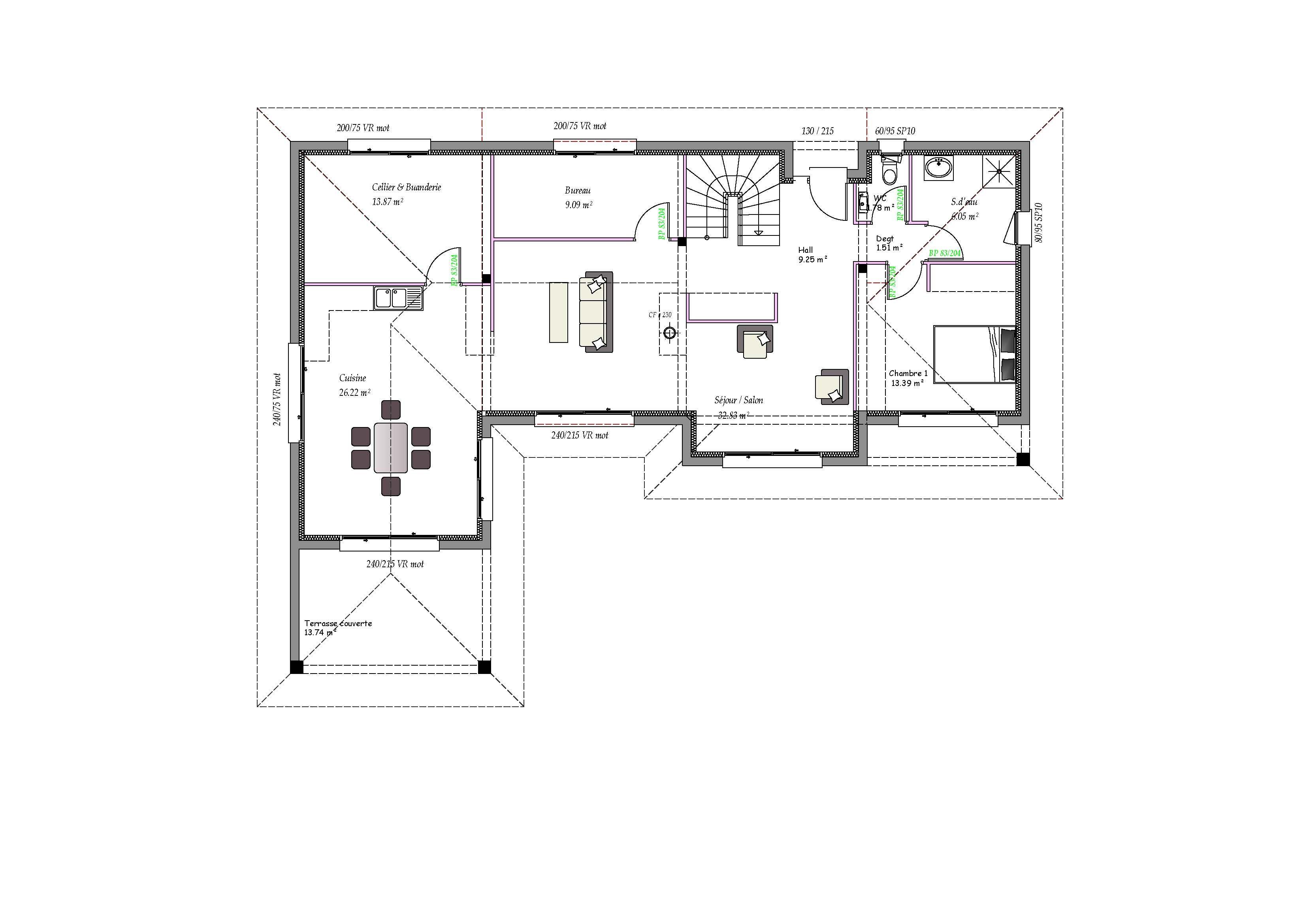 Modèles et plans de maisons > Modèle à étage Inspiration étage et