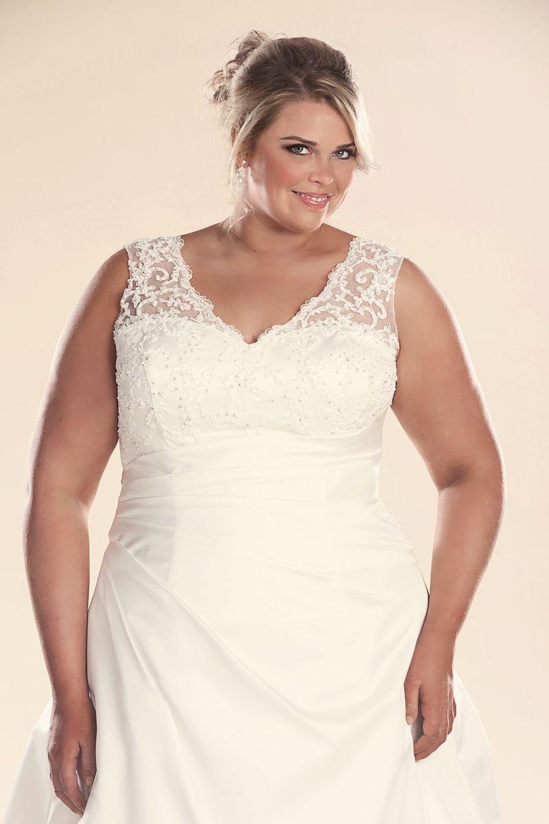 Jenny plus size wedding dress with sleeves Νυφικά plus size