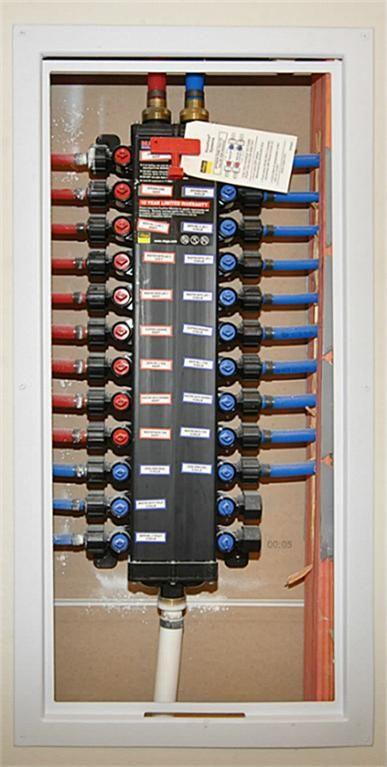 Pex Manabloc Access Panel Diy Plumbing Pex Plumbing House Heating