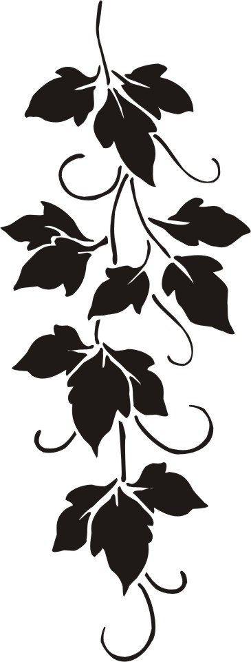 Stencil wall stencil raised plaster stencil cerise vine - Cerise dessin ...