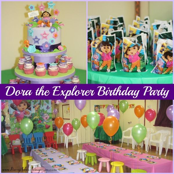 Party Like a Three Year Old Dora Style Kids birthday decorations