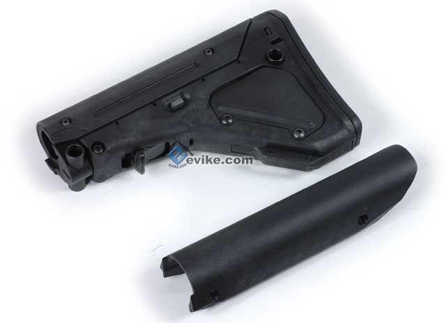 Evike.com Airsoft Guns - External Parts | Evike.com Airsoft Guns - Stocks | Evike.com Airsoft Guns - M4 / M16 Ret. Stocks | Evike.com Airsoft Guns - Magpul PTS Licensed UBR (Utility Battle Rifle) Stock For M4 / M16 Series Airsoft AEG (Black) |
