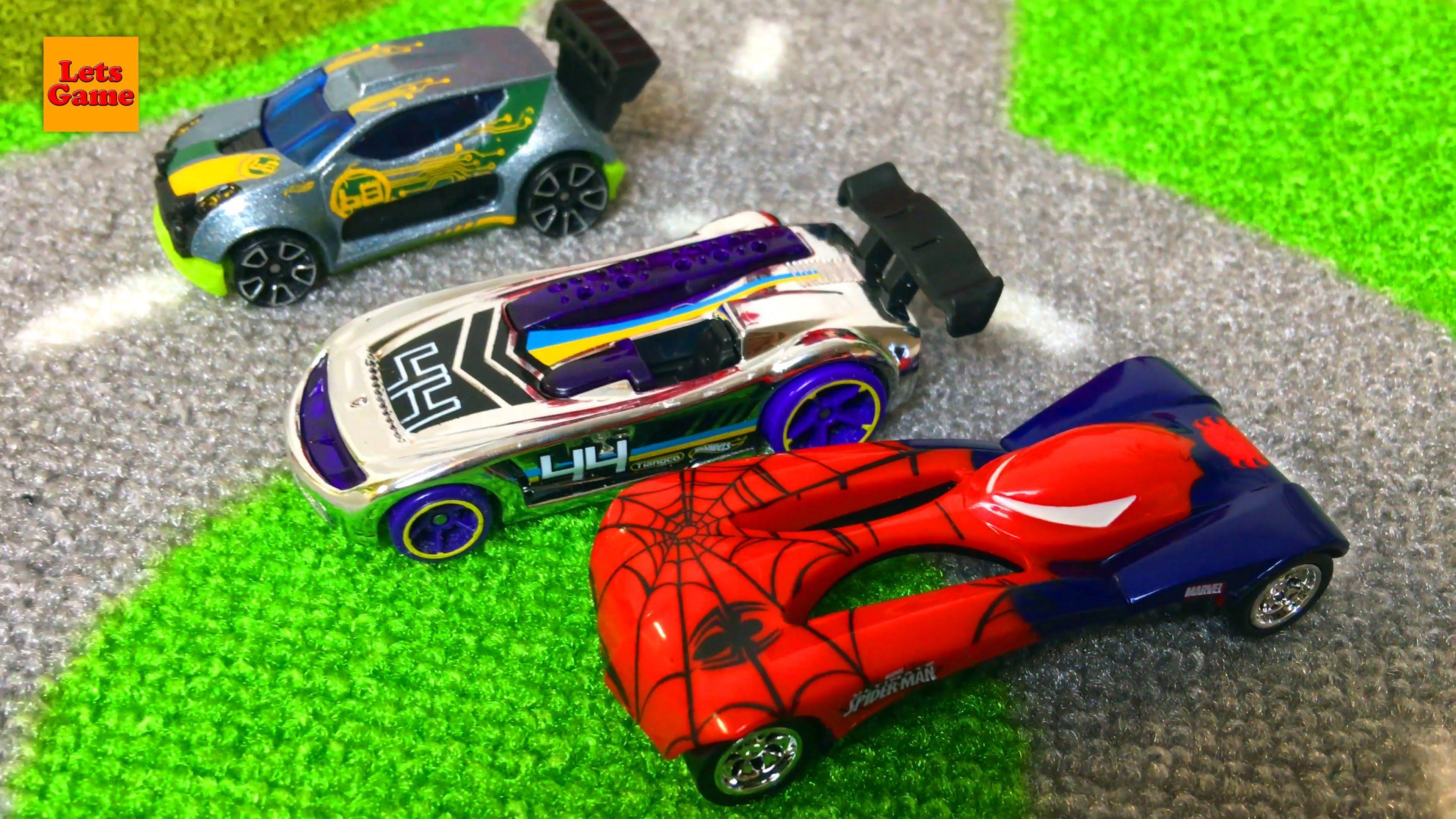 Supergeroj Spajdermen Otkryvaet Mashinki Hot Vils Spider Man Hot Wheels Cars