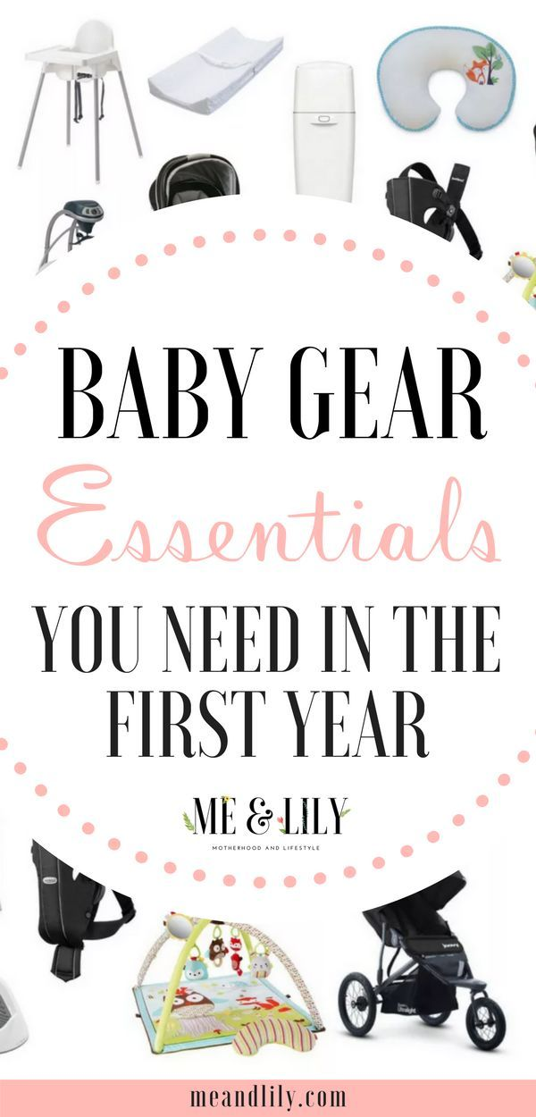 Baby Gear Essentials You Need in the First Year   Everything Under - baby registry checklists
