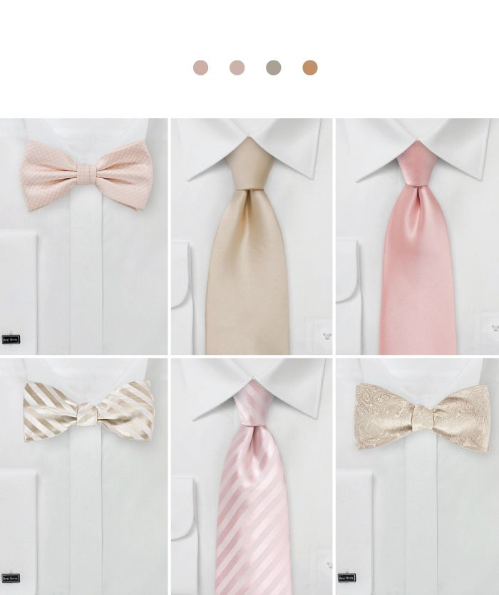 Groomsmen Accessories For Rose Gold Weddings Wedding Color