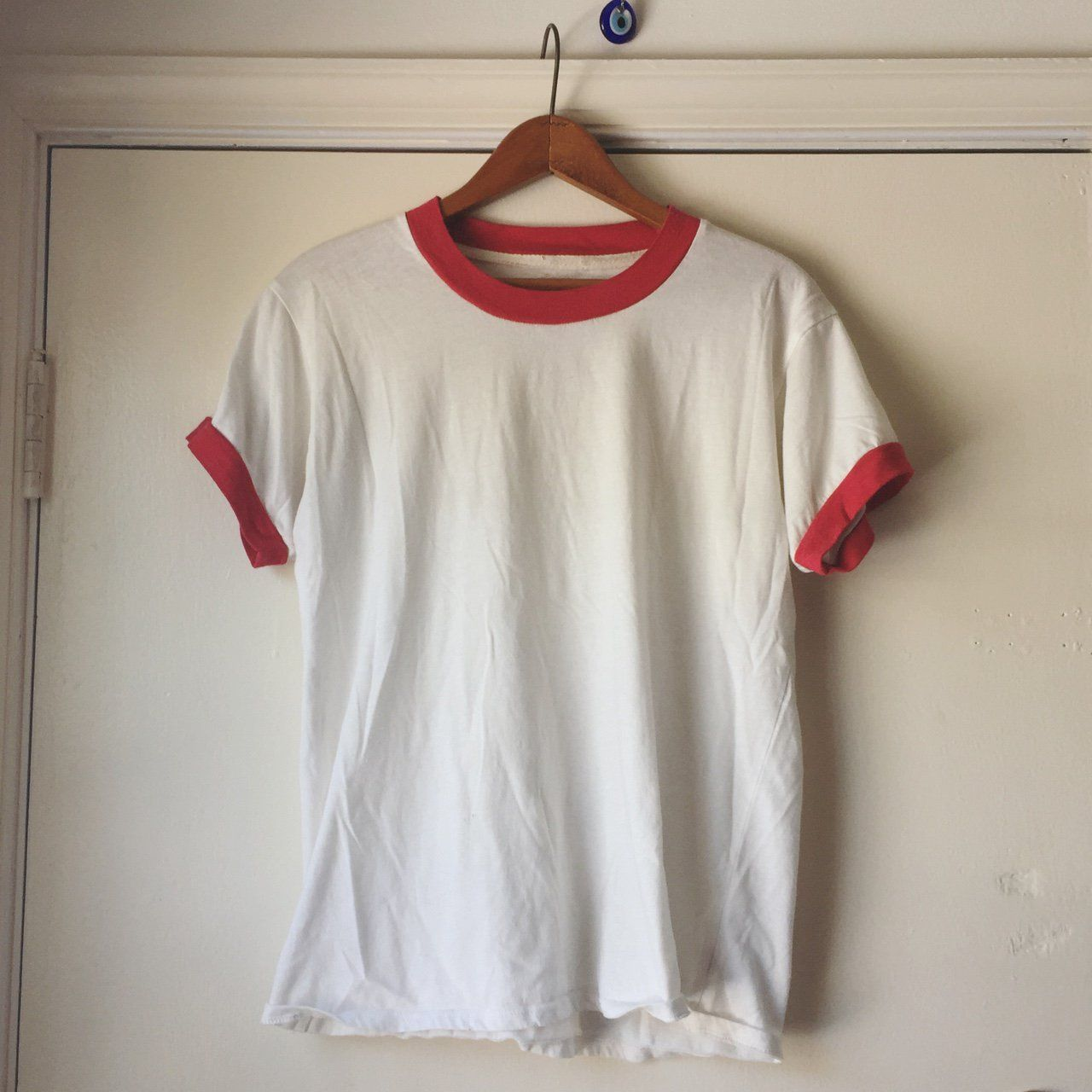 40661552eb8b Camp Ringer Tee! I bought this from Camp Collection for my boyfriend and he  accidentally shrunk it