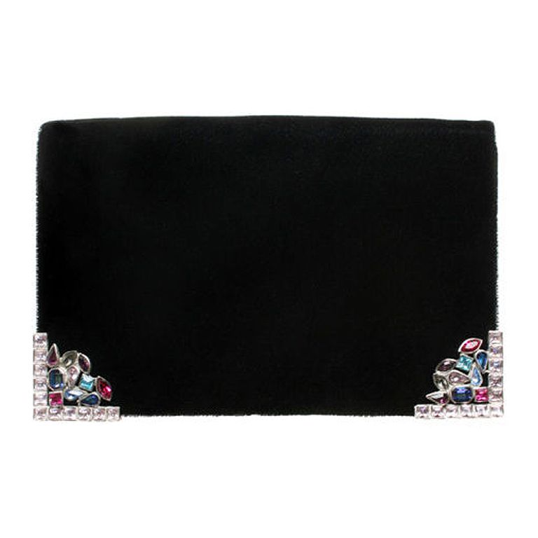 66830f7a785 Yves Saint Laurent Jeweled Clutch