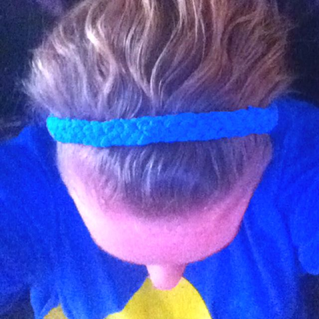 Headband I made out of an old t-shirt. :))