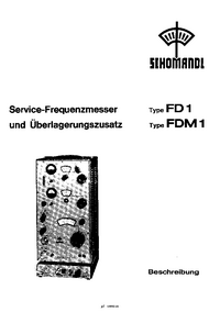 Schomandl FD1 Frequency counter Service and User Manual