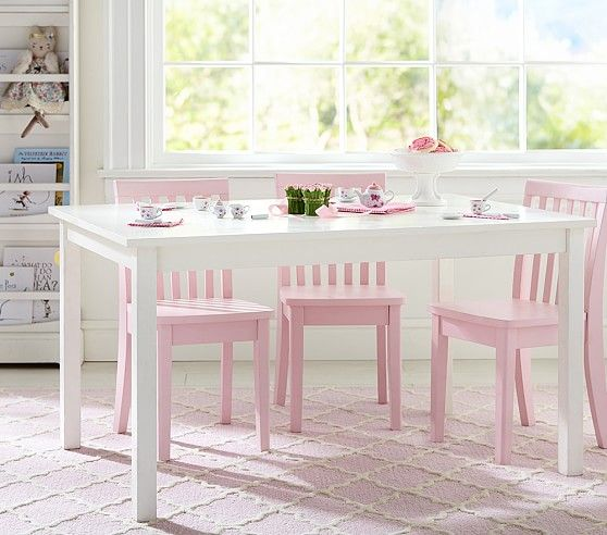 Kids Playroom Table And Chairs $159 special carolina large play table | pottery barn kids