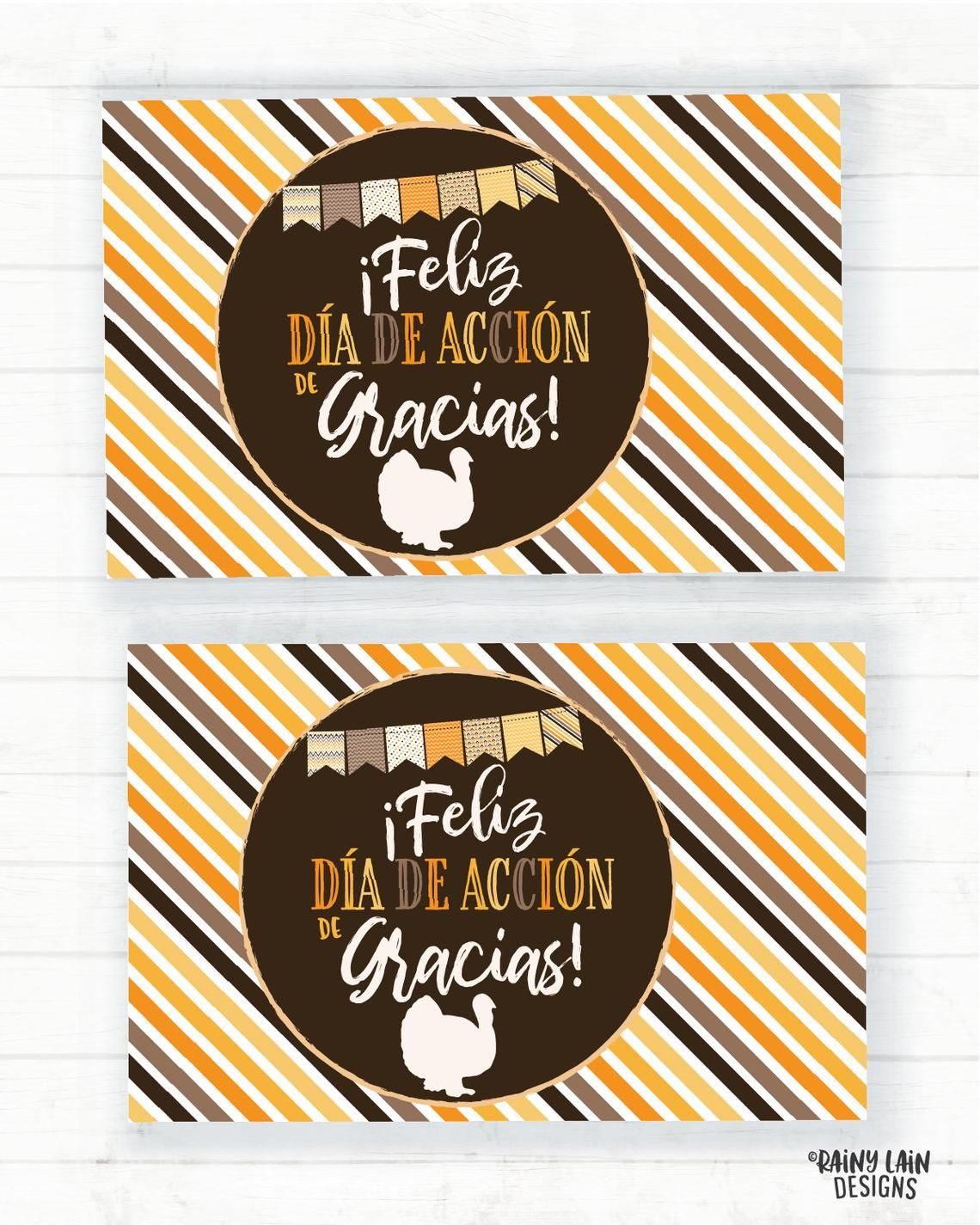 Feliz Dia De Accion De Gracias Placemat Printable Placemats Etsy Give Thanks Thankful Thanksgiving Invitation