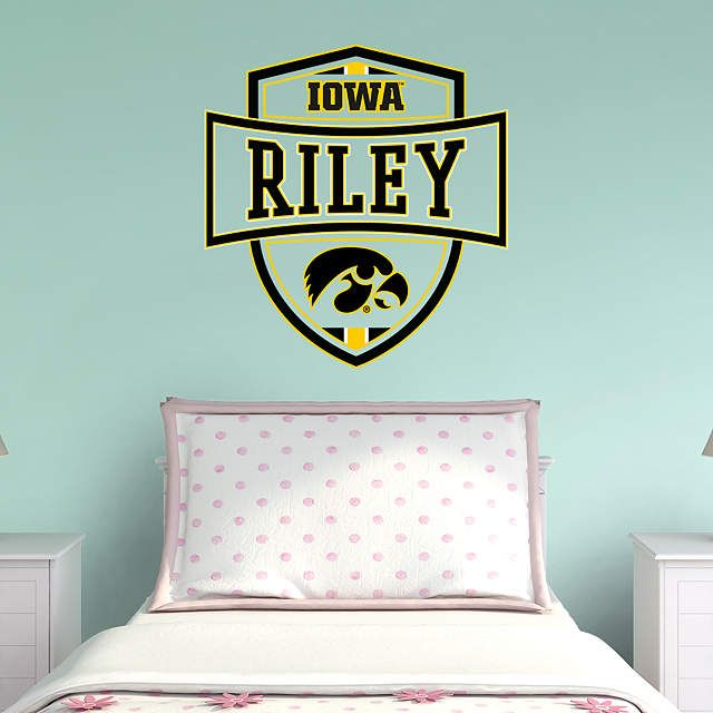 Iowa Hawkeyes Personalized Name | Iowa, Wall decals and Bedrooms