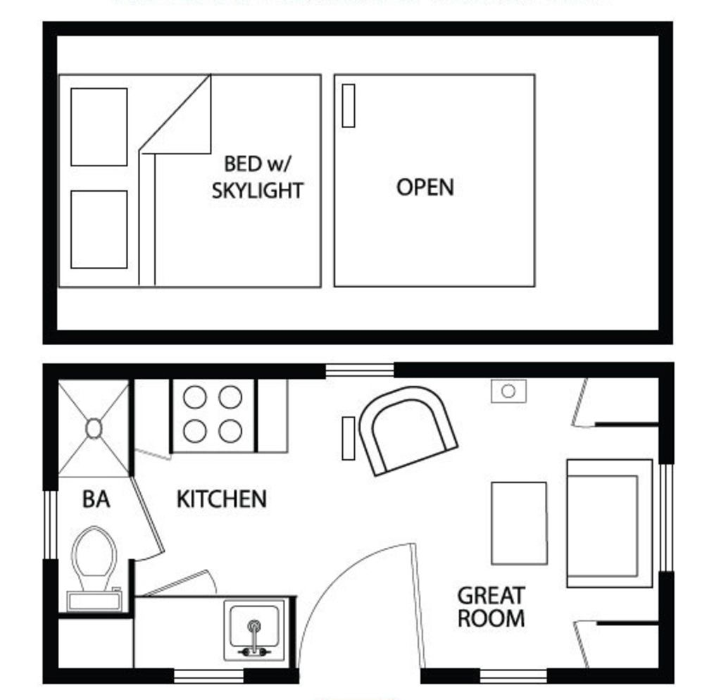 Cottage main floor plan plan 896 1 for Sleeping cabin plans