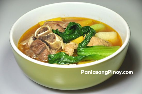 Pata Pochero is a soup dish composed of cut pork legs or pork hocks, potatoes, ripe saba banana , Calabaza squash, and bok choy.
