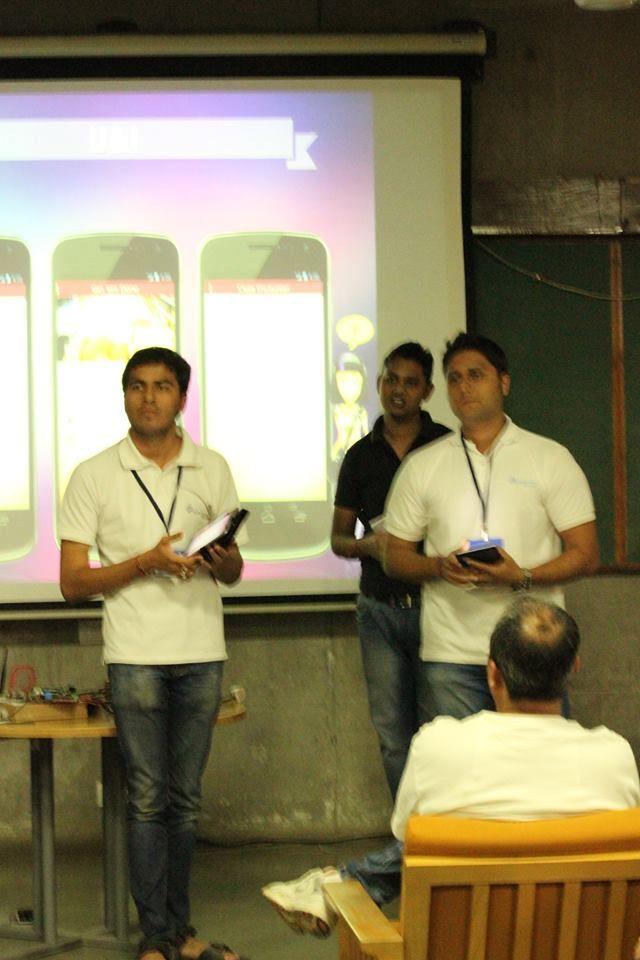 Teamletsnurture Presented demo of app U & I echai