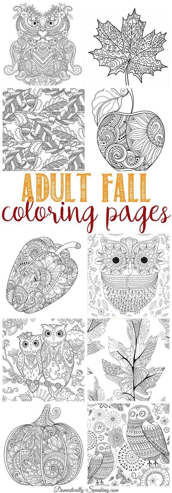 Fall Coloring Pages for Adults | Mandalas, Otoño y Pintar