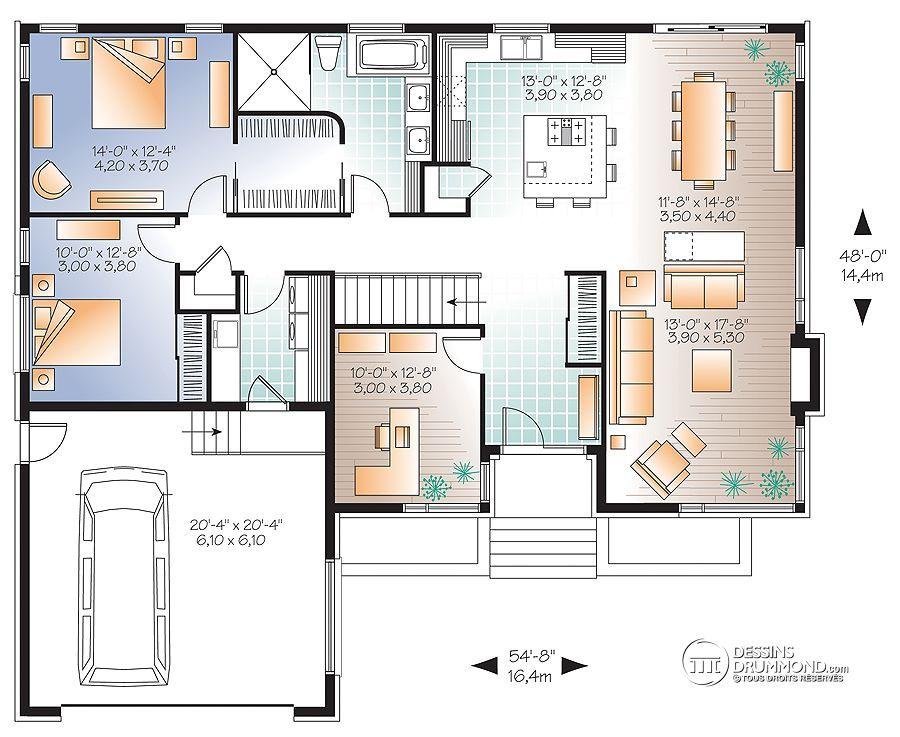 plan de maison zen
