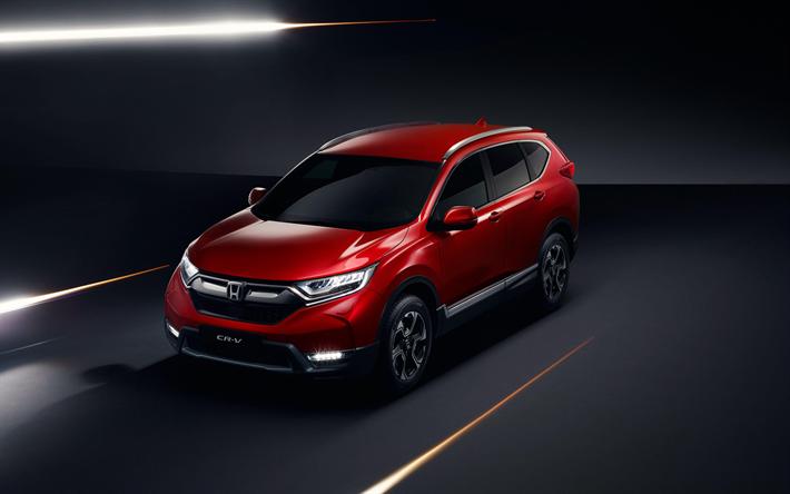 Download Wallpapers 4k, Honda CR-V, Studio, 2018 Cars, EU