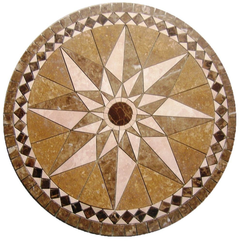 Floor marble medallion bari star noce tile mosaic 24 compass rose floor marble medallion bari star noce tile mosaic 24 compass rose medallionus dailygadgetfo Image collections
