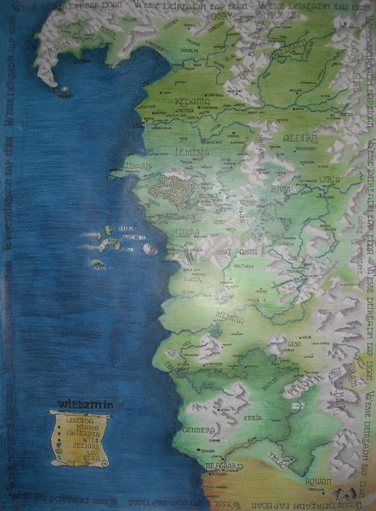 The map of the Witcher\'s world by Madlaen | The witcher ...