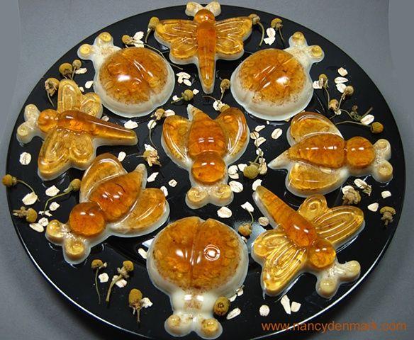 "Honey, Oats, & Chamomile Soap ""Bugs"" handcrafted by Nancy Denmark"