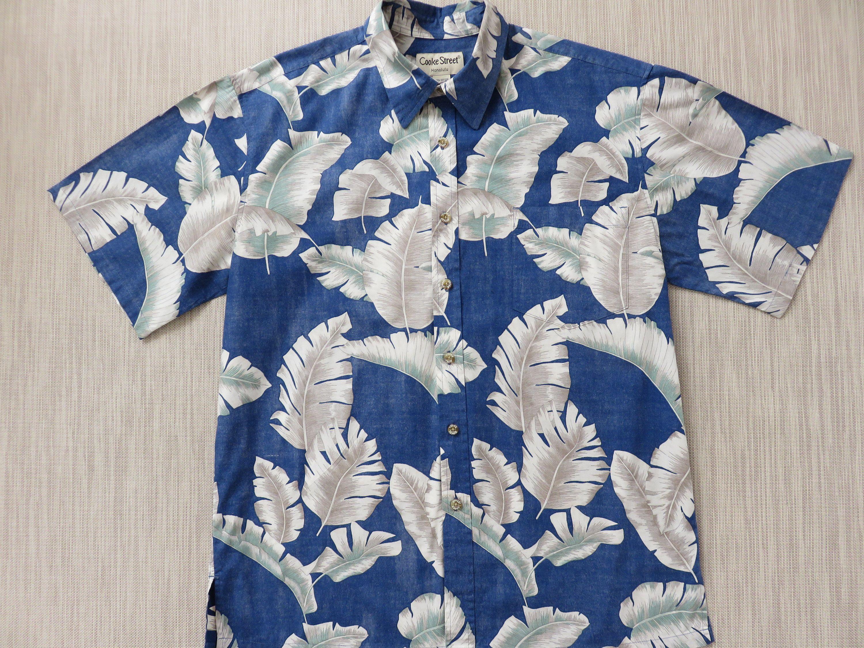 45a4ebd2 Mens Hawaiian Shirt COOKE STREET Copyrighted Jungle Palm Aloha Shirt  Tropical Reverse Print 100% Cotton Camp - L - Oahu Lew's Shirt Shack by ...