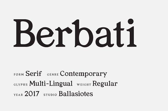 Berbati Regular Serif Font Serif Fonts Serif Serif Typeface