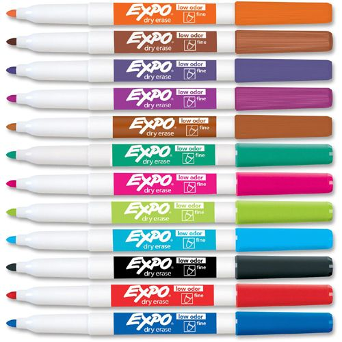 Expo Fine Point Dry Erase Markers Dry Erase Markers Markers Dry Erase