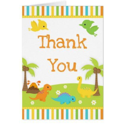 Cute dinosaurs blue baby shower thank you card baby shower ideas cute dinosaurs blue baby shower thank you card baby shower ideas party babies newborn gifts negle Choice Image