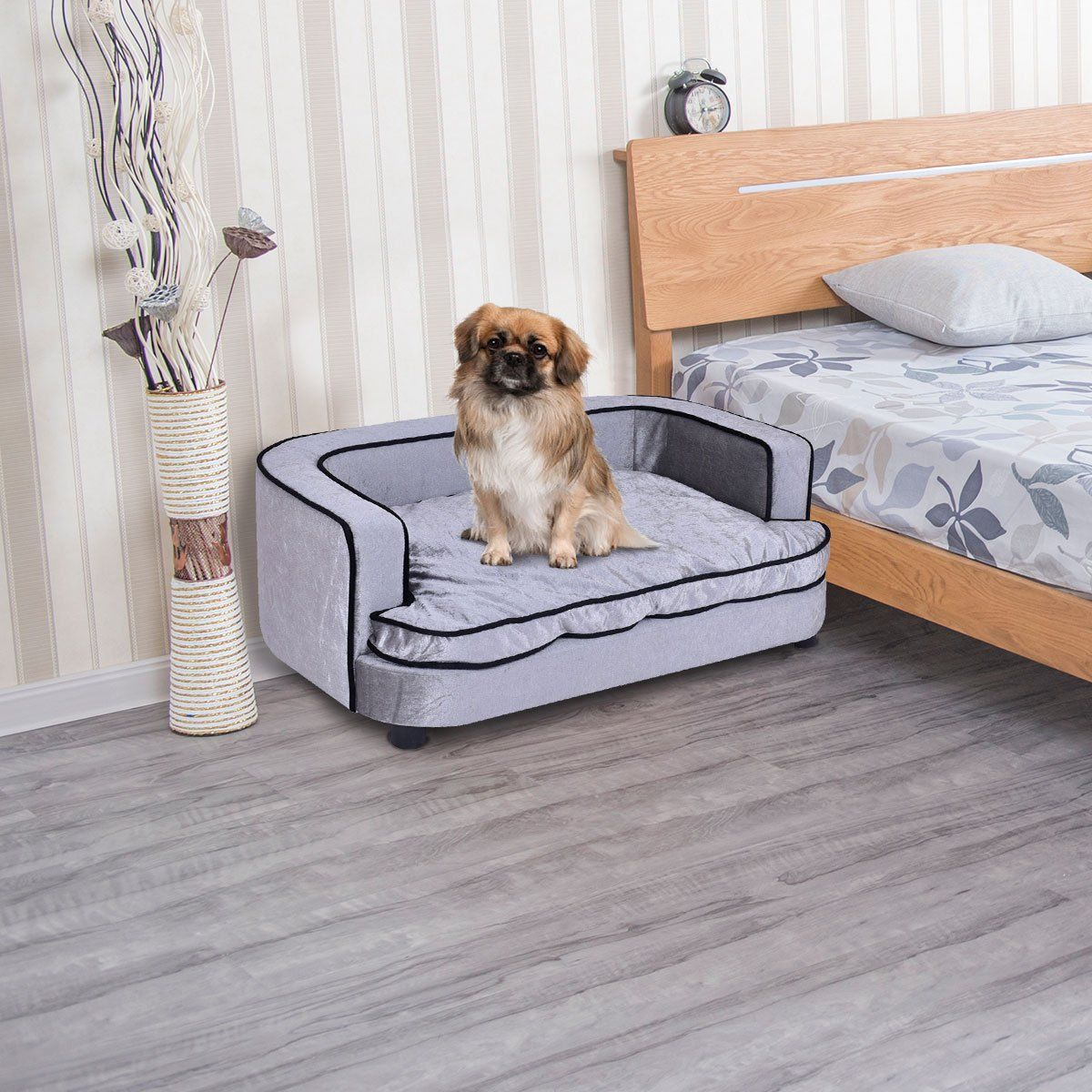 Giantex Pet Sofa Orthopedic Lounge Sofa Bed Puppy Cat Sleeping Home Comfortable Couch Pet Bed With Removable Cushion For Large Dog Beds Furniture Comfortable Couch Couch Pet Bed Couch Cushions