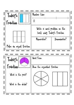 Equivalent Fractions Mini Math Warm Up Sample Page | Math